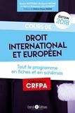Richard Crône - Cours de droit international et européen.