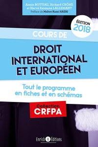 Cours de droit international et européen - Richard Crône | Showmesound.org