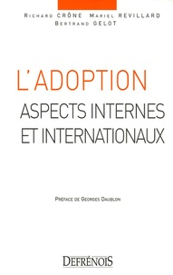 L'adoption- Aspects internes et internationaux - Richard Crône pdf epub