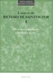 Richard de Saint-Victor - L'oeuvre de Richard de Saint Victor - Tome 1, De contemplatione (Beniamin maior).