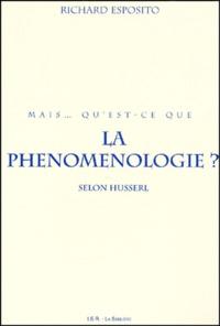 Richard Esposito - Mais qu'est-ce que la phénoménologie? Selon Husserl.