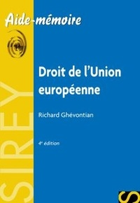 Richard Ghevontian - Droit de l'Union européenne.