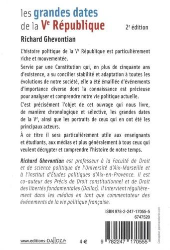 Les grandes dates de la Ve République 2e édition