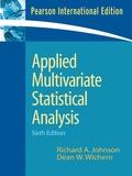 Richard Johnson et Richard A. Johnson - Applied Multivariate Statistical Analysis.
