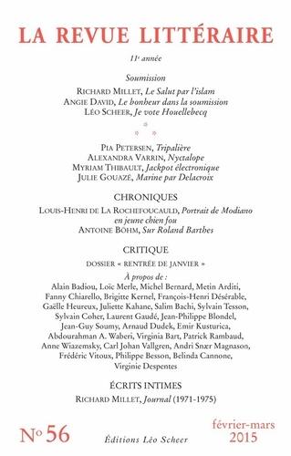 La Revue littéraire N° 56, février-mars