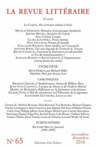 La Revue littéraire N° 65, novembre-déce
