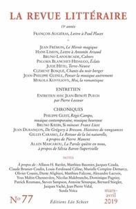 Richard Millet - La Revue littéraire N° 77, mars-avril 20 : .