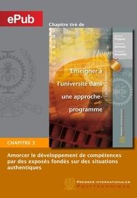 Richard Prégent et Huguette Bernard - Amorcer le développement de compétences par des exposés fondés sur des situations authentiques (Chapitre).