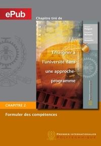 Richard Prégent et Huguette Bernard - Formuler des compétences (Chapitre).