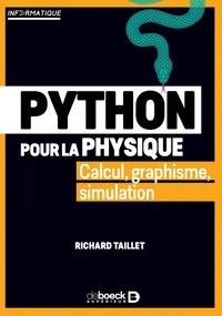 Richard Taillet - Python pour la physique - Calcul, graphisme, simulation.