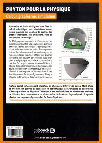 Python pour la physique. Calcul, graphisme, simulation