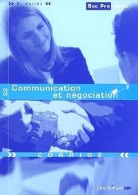 Richard Vairez - S2 Communication et négociation - Corrigé.