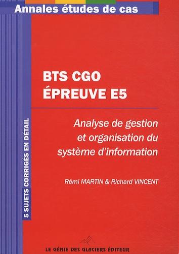 Annales études de cas CGO Epreuve E5 - Rémi Martin