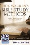 Rick Warren's Bible Study Methods: Twelve Ways You Can Unlock God's Word.