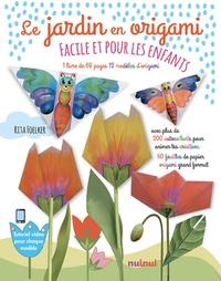 Rita Foelker - Le jardin en origami - Contient 1 livre, 90 stickers, 72 feuilles de papier origami.