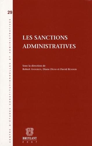 Robert Andersen et Diane Déom - Les sanctions administratives.