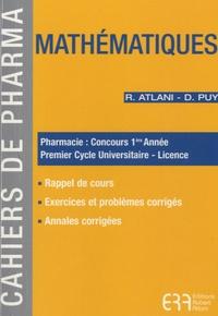 Rhonealpesinfo.fr Mathématiques - Pharmacie : concours 1e année ; Premier Cycle Universitaire-Licence Image