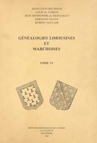 Robert Auclair et Jean Bonhomme de Montaigut - Généalogies limousines et marchoises (6).