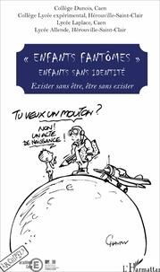 "Robert Badinter et Najat Vallaud-Belkacem - ""Enfants fantômes"" Enfants sans identité - Exister sans être, être sans exister."