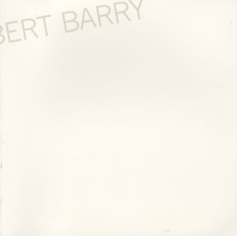 Robert Barry - Autobiography.
