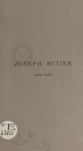Robert Beudant - Joseph Hitier, 1865-1930.