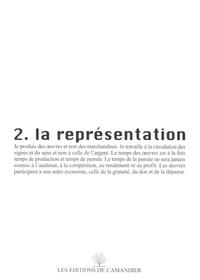 Robert Cantarella - La représentation.