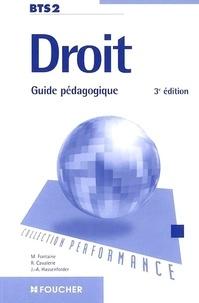 Robert Cavalerie et Michelle Fontaine - Droit BTS 2e année - Guide pédagogique.