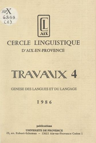 Genèse des langues et du langage