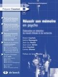 Robert Courtois et Valérie Pennequin - Réussir son mémoire en psycho - Elaboration et rédaction du travail d'étude et de recherche.