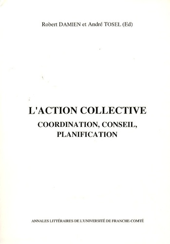 L'action collective. Coordination, conseil, planification
