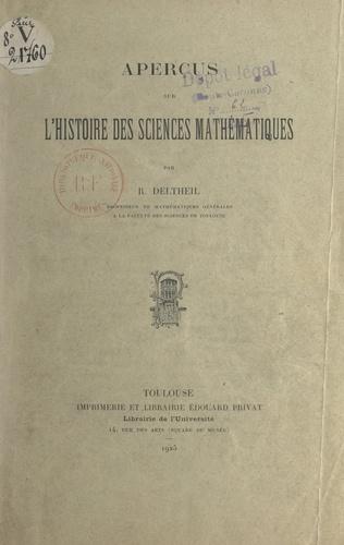 Aperçus sur l'histoire des sciences mathématiques