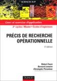 Robert Faure et Bernard Lemaire - Précis de recherche opérationnelle - Cours et exercices d'application.