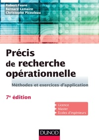 Précis de recherche opérationnelle- Méthodes et exercices d'application - Robert Faure |