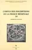 Robert Favreau et Jean Michaud - Corpus des inscriptions de la France médiévale (10) : Chrismes du Sud-Ouest.