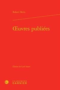Robert Hertz - Oeuvres publiées.