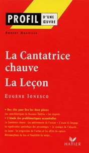 Robert Horville - La cantatrice chauve (1950) - La leçon (1951), Eugène Ionesco.