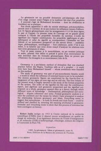 La géomancie. Tome 1, Analyse formelle