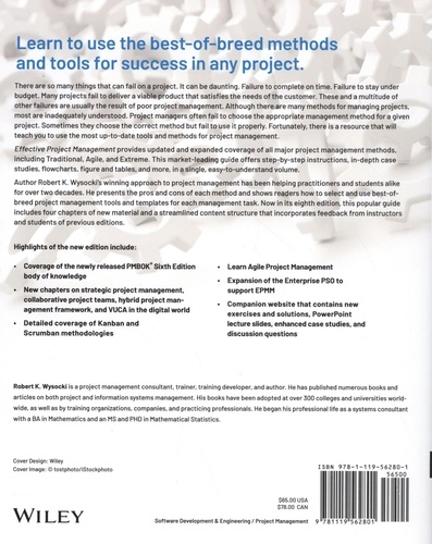 Effective Project Management. Traditional, Agile, Extreme, Hybrid 8th edition