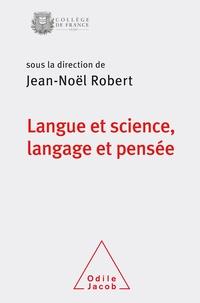 Robert - Langue et science, langage et pensée - Colloque annuel 2018.