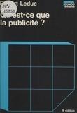 Robert Leduc - Qu'est-ce que la publicité ?.