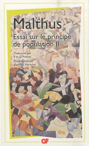Robert Malthus - Essai sur le principe de population - Tome 2.