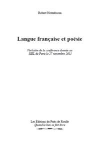 Robert Notenboom - Langue Française et Poésie.