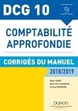Robert Obert et Marie-Pierre Mairesse - Comptabilité approfondie DCG 10 - Corrigés du manuel.