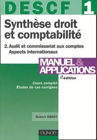 Synthèse droit et comptabilité DESCF 1 - Tome 2, Audit et commissariat aux comptes, Aspects internationaux.pdf