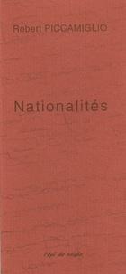 Robert Piccamiglio - Nationalités.