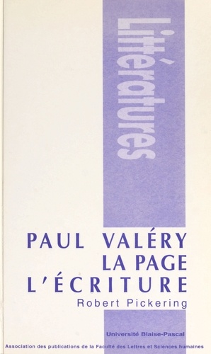 Paul Valéry, la page, l'écriture