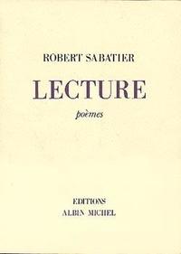 Robert Sabatier - Lecture - Poèmes.