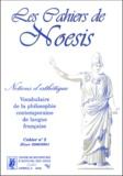 Robert Sasso et  Collectif - Les cahiers de Noesis N°2 Hiver 2000/2001 : Notions d'esthétique.