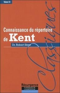 Robert Séror - Connaissance du répertoire de Kent - Volume 3, Technique et tactique homéopathique dans l'usage du grand répertoire de Kent, ou encore, ce que Kent nomme l'art et la science de l'homéopathie dans ses conférences.