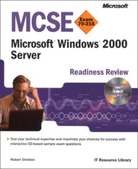 Deedr.fr Windows 2000 Server. - MCSE Readiness Review Exam 70-215, CD-ROM included Image